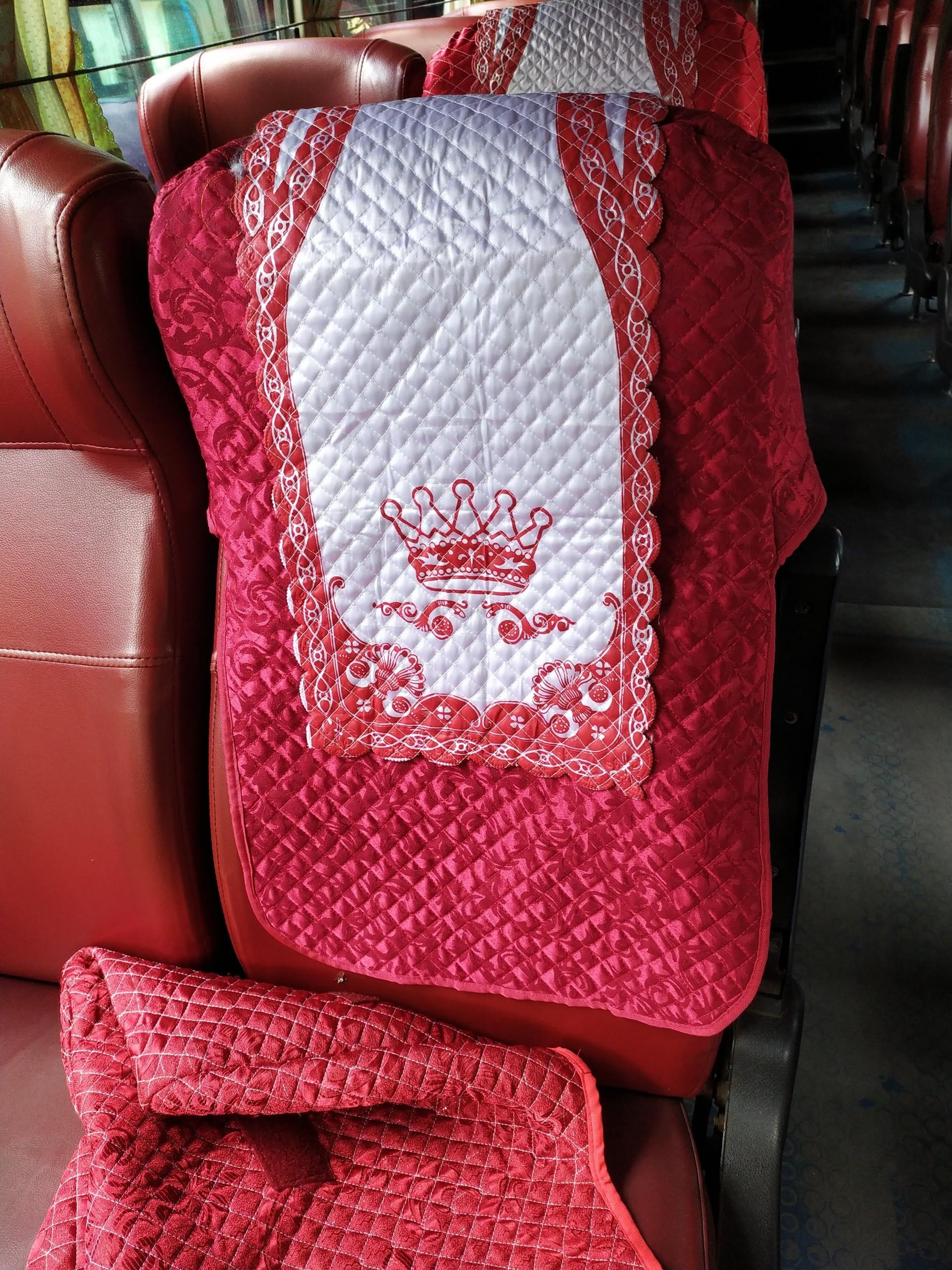 Mẫu áo ghế xe khách samco 29 chỗ