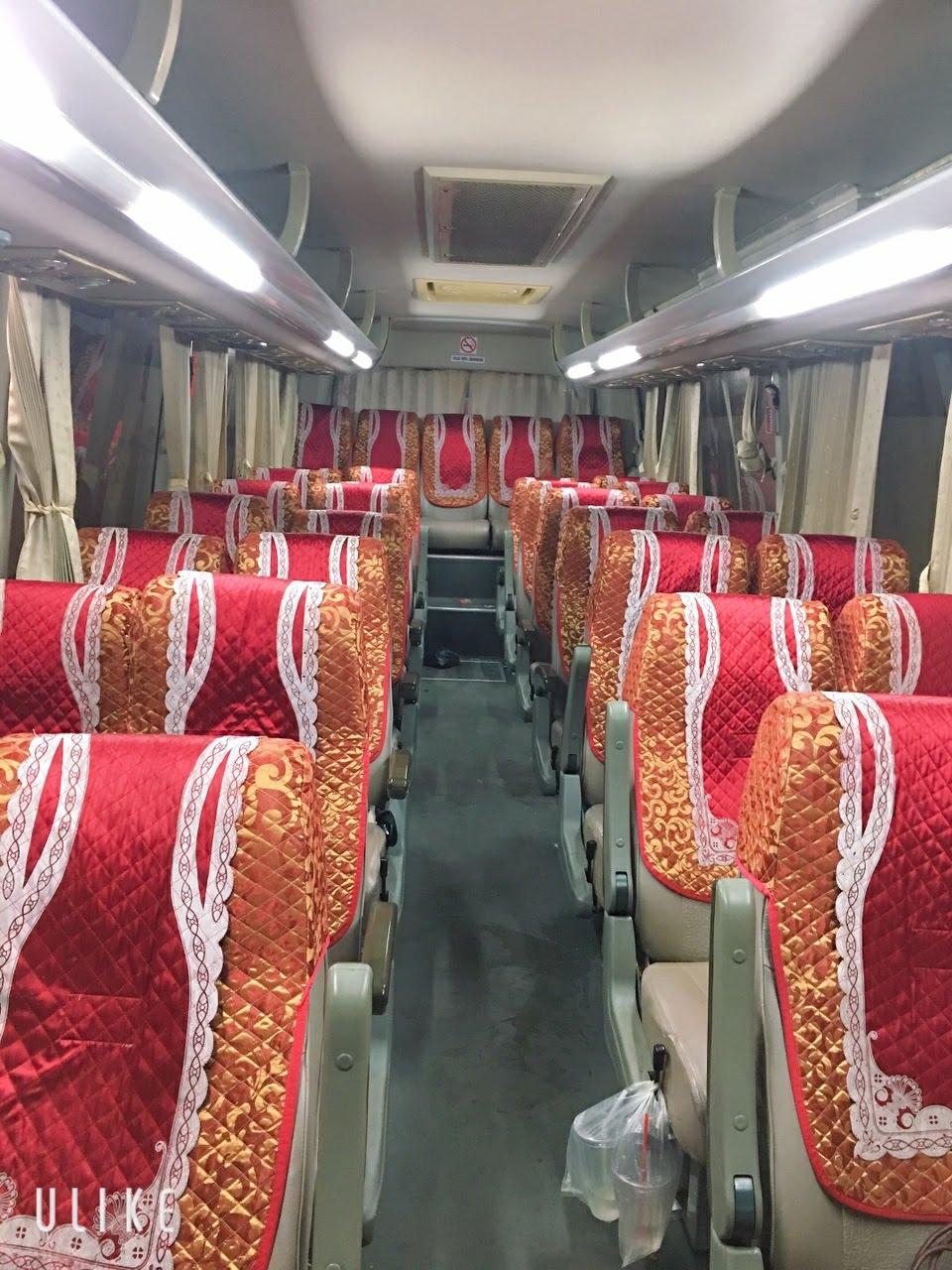 Công trình ghế xe samco 29 chỗ ngồi