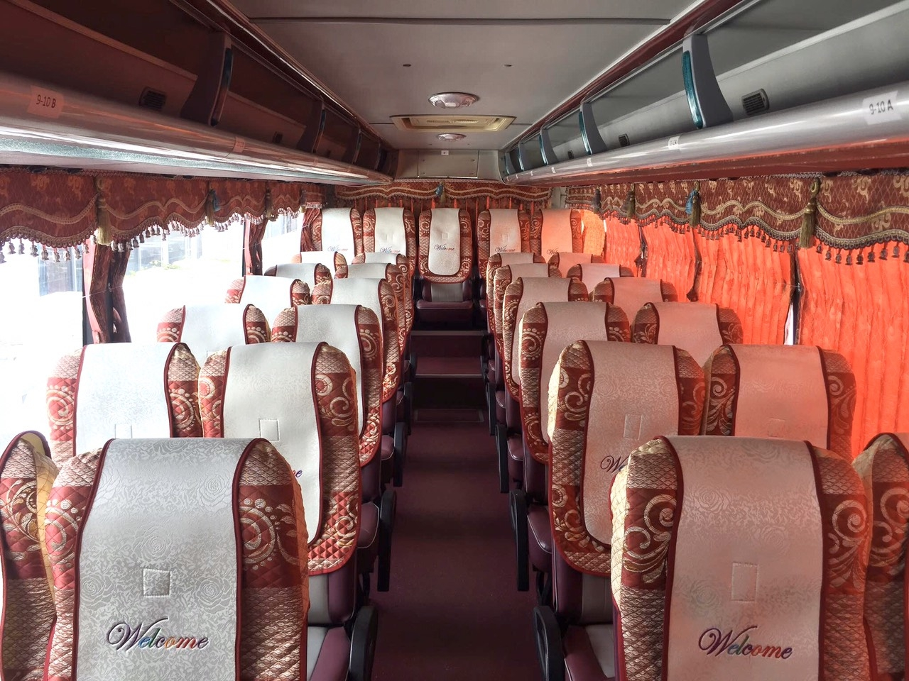 Áo ghế xe khách ô tô du lịch Thaco