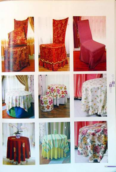 Bọc ghế +khăn trải bàn