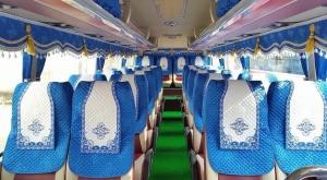Áo ghế, rèm trang trí, màn cửa xe khách huyndai 46 chỗ