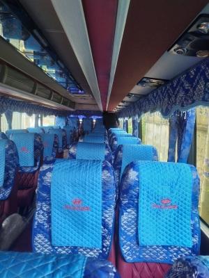 Áo ghế xe du lịch yếm thêu Huyndai 46 chỗ ngồi