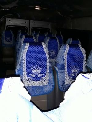 Áo ghế xe du lịch Mercedes Benz 16 chỗ